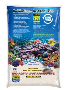 Nature's Ocean Bio Active - Natural White  żywy piasek 4,5kg